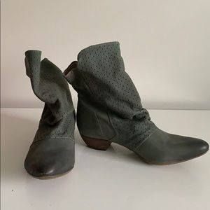 Fly London made in Portugal suede bootie